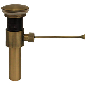 Whitehaus Pop-up Mechanical Drain in Antique Brass