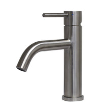 Load image into Gallery viewer, Whitehaus Waterhaus Lead-Free Solid Stainless Steel Single lever Elevated Lavatory Faucet   in Brushed Stainless Steel