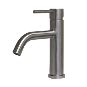 Whitehaus Waterhaus Lead-Free Solid Stainless Steel Single lever Elevated Lavatory Faucet   in Brushed Stainless Steel