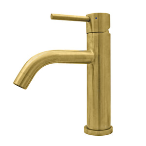 Whitehaus Waterhaus Lead-Free Solid Stainless Steel Single lever Elevated Lavatory Faucet   in Brass
