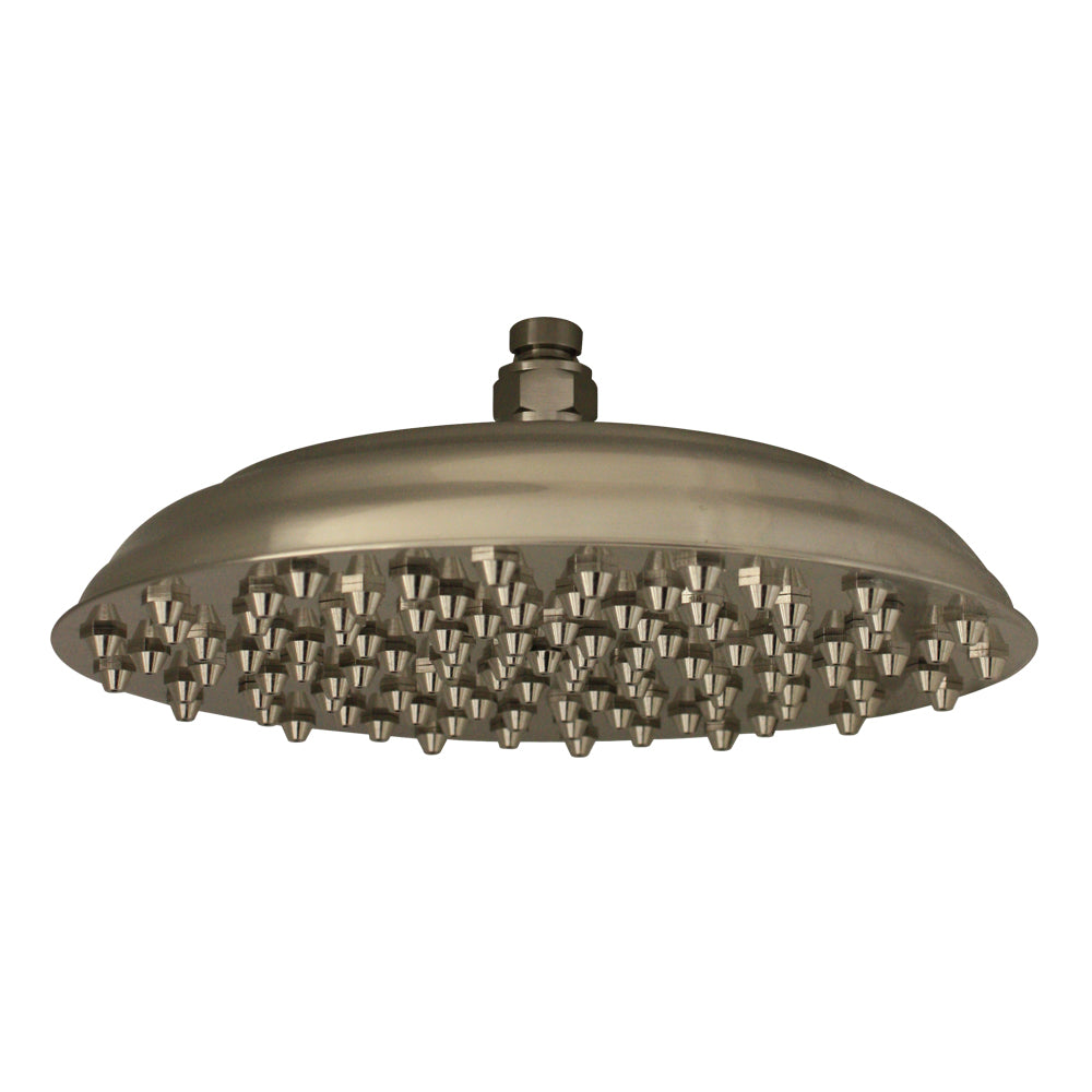 Whitehaus Showerhaus Large Sunflower Rainfall Showerhead with 108 Spray Nozzles - Solid Brass Construction with Adjustable Ball Joint in Brushed Nickel
