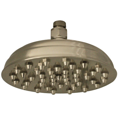 Whitehaus Showerhaus Sunflower Rainfall Showerhead with 45 nozzles - Solid Brass Construction with Adjustable Ball Joint in Brushed Nickel