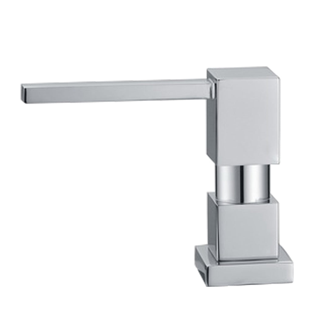 Whitehaus Q-Haus Solid Brass Soap/Lotion Dispenser  in Brushed Nickel
