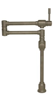 Whitehaus Waterhaus Lead Free, Solid Stainless Steel Deck Mount Pot Filler in Burshed Stainless Steel in Default Title