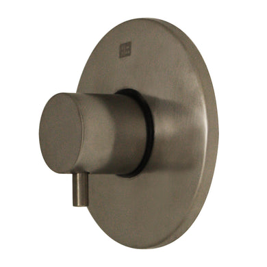 Whitehaus Luxe Round Volume Control with Short Lever Handle in Brushed Nickel in Default Title