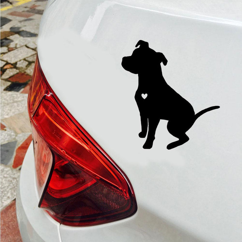 Car Sticker Cute Pit Bull Dog Reflective Car Vehicle Body Window Decals Sticker Decoration Auto Tuning Styling 2019Funny Sign