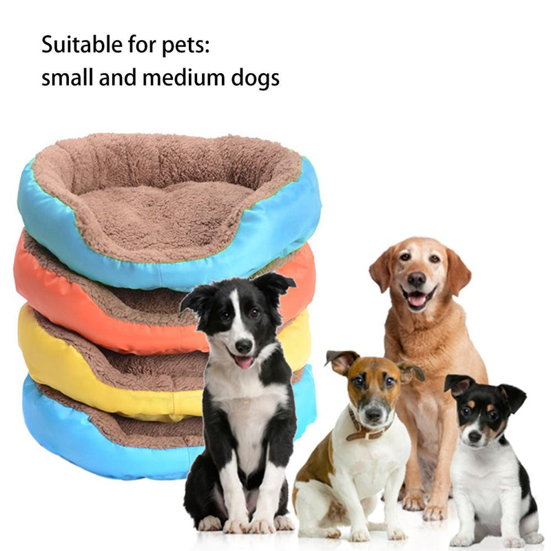 New Round Plush Cat Bed House Soft Plush Cat Mat Pet Dog House For Small Dogs Cats Nest Universal Warm Sleeping Bed Puppy Mat