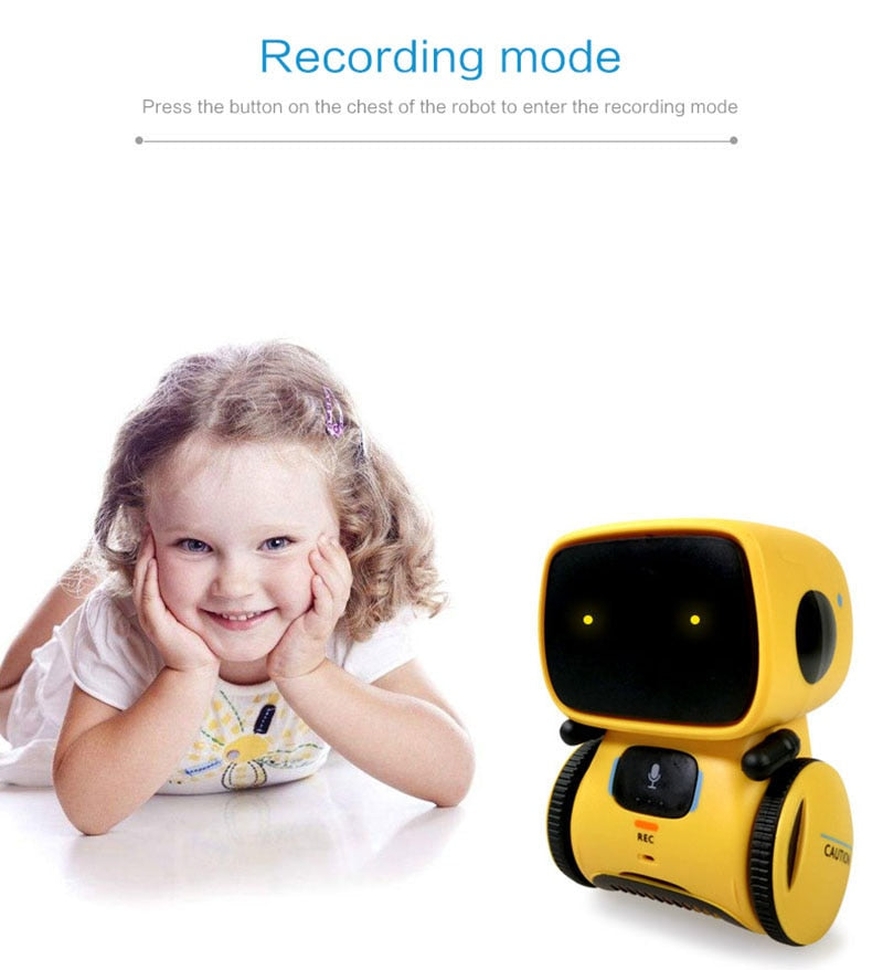 Smart Robots Dance Voice Command 3 Languages Versions Touch Control Toys Interactive Robot Cute Toy Gifts for Kids