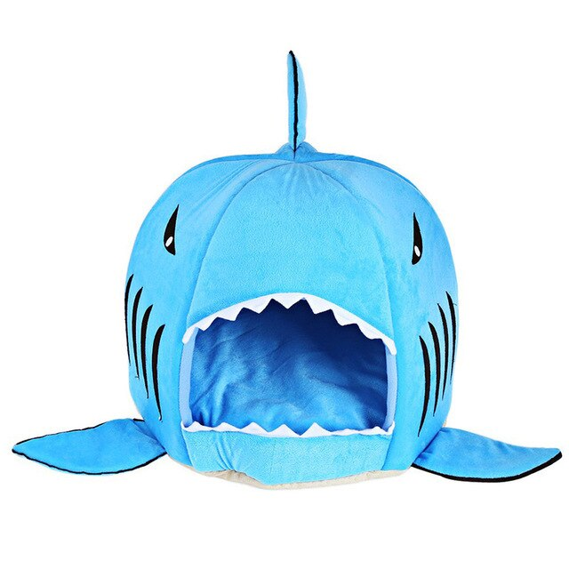 Shark Warm Dog House for Cat Kitten Dog Pet Sleeping Sofa Bed Puppy High Quality Indoor Washable Pet House Mat Tent