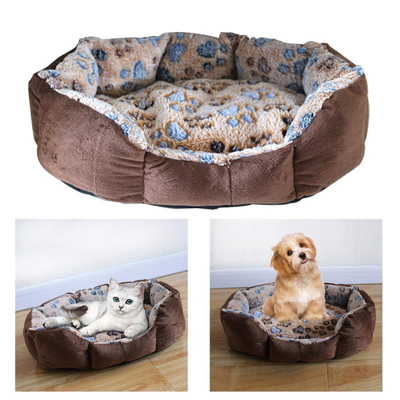 Pet Dog Nest Fleece Warm Dog Bed Mat Pet House Plush Cozy Nest Mat Portable Dogs Sofa Sleeping Bed Winter Puppy Dog Kennel