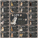 Pet Life Is Better With A Dog Samoyed Husky Pug  Tin Metal Sign Home Decor Bar Wall Art Painting 20*30 CM Size Dy116