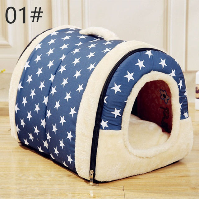 Removable Washable Pet Dog House with comfortable bed