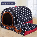 Warm Dog House with Comfortable Sleeping Bed