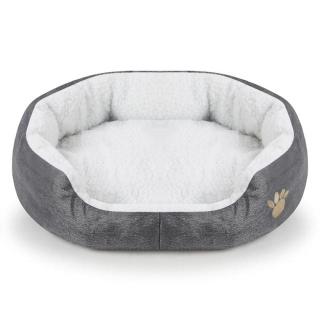 Bed-Mat Pet Cat Dog Nest Bed Puppy Soft Warm Round House Sleeping Mat New 6 Color Pet-Accessories 45*40*11cm