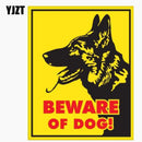 German Shepherd Beware Of Dog Sign Car Window Reflective Car Sticker C1-7663