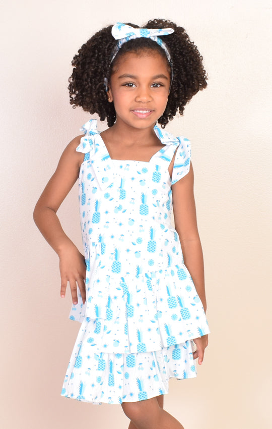 Vestido Blue Pineapples (10501)