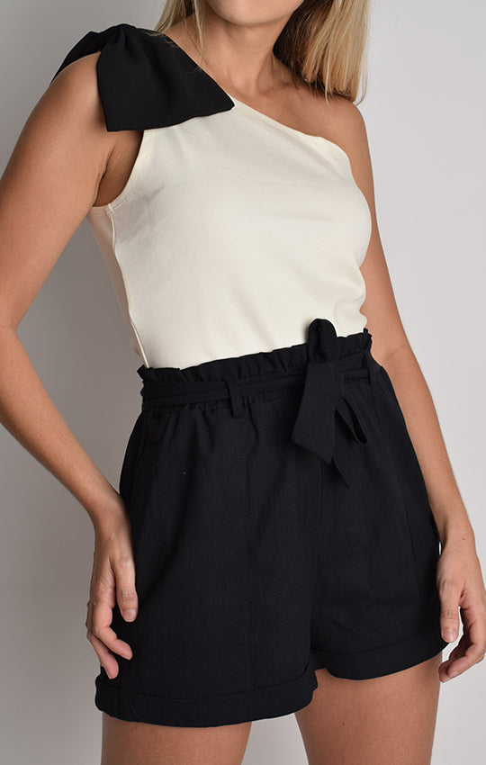 Blusa One Shoulder Lazo (201104)