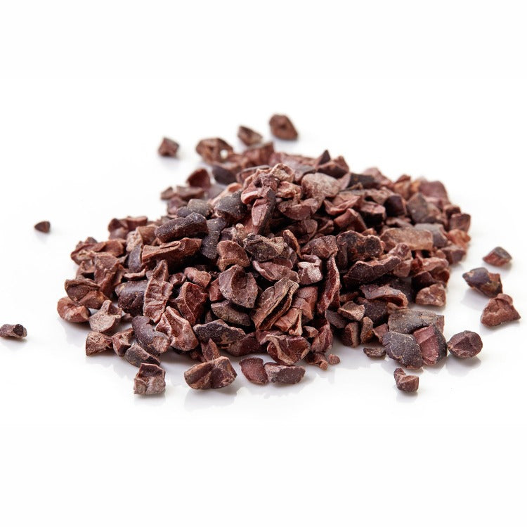 Cacao Nibs - white background - ice cream toppings