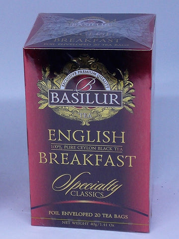 Te Negro Basilur English Breakfast 20 Bolsas