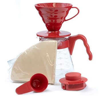 Set rojo coffee server Hario V60 02
