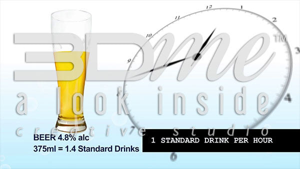 How many standard drinks (.5oz or 10ml of alcohol) will a healthy person eliminate in one hour?