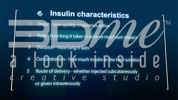 List insulin characteristics
