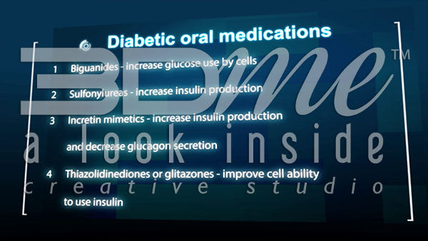 What are the main types of oral medications used by type 2 diabetics?