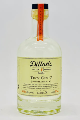 "Dillon's Small Batch Dry Gin ""7"" 375 ml"