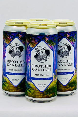 "Laughing Monk ""Brother Gandalf"" West Coast IPA 16 oz Can Four Pack"