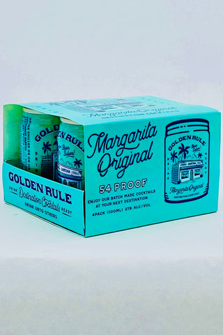 Golden Rule Margarita Pre-mixed Cocktail 4 pack cans
