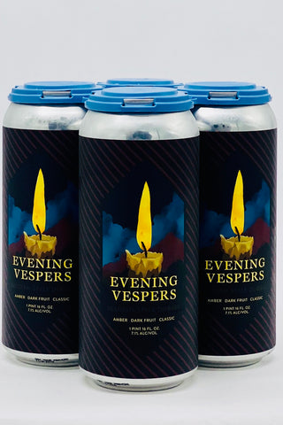 "Laughing Monk ""Evening Vespers"" Dubbel 16 oz Can Four Pack"