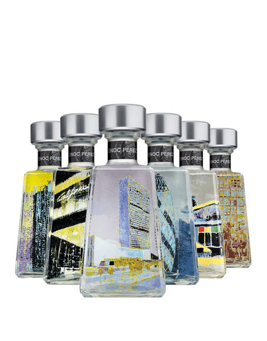 1800 Tequila Enoc Perez Essential Artists Series Silver Tequila Limited Edition Complete set of Six Bottles!