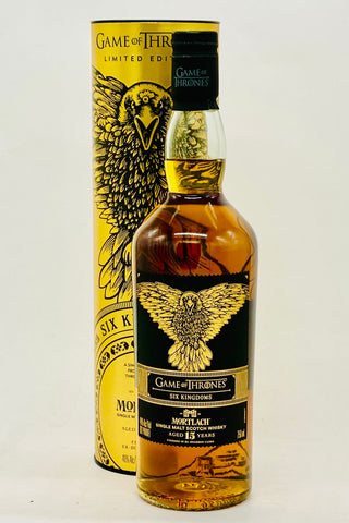 "Game of Thrones Mortlach 15 Years Old ""Six Kingdoms"" Single Malt Scotch Whisky"