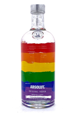"Absolut Colors Vodka V4 750 ml  Limited Edition ""Rainbow Bottle"""