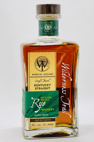 "Wilderness Trail ""Settler's Select"" Single Barrel Rye Whiskey Cask Strength"