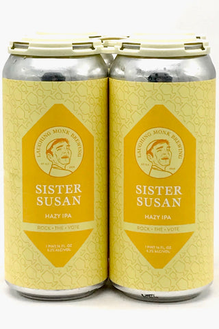 "Laughing Monk ""Sister Susan"" Hazy IPA 16 oz Can Four Pack"