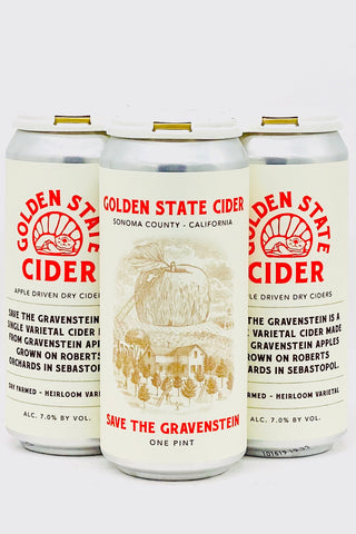 Golden State Cider Save the Gravenstein Four Pack Cans