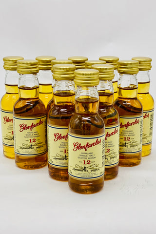 Glenfarclas 12 Year Single Malt Scotch Whisky 12 x 50 ml