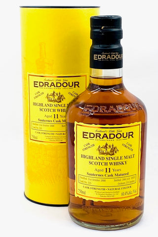 Edradour 11 Year Old Scotch Whisky Sauternes Cask Finish