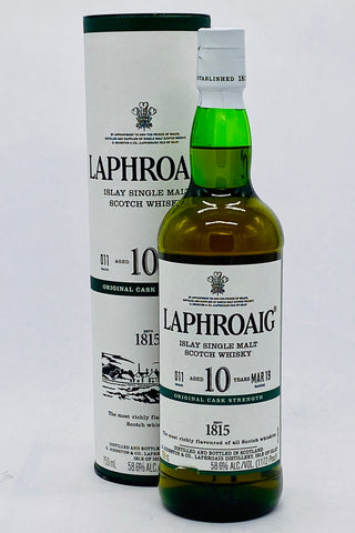 Laphroaig 10 Year Old Cask Strength Islay Scotch Whisky