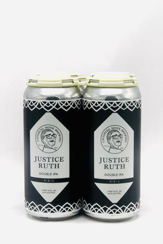 "Laughing Monk ""Justice Ruth"" Double IPA 16 oz Can Four Pack"