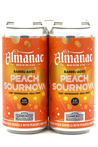 Almanac Peach w/Vanilla Sournova Ale Four Pack 12 oz cans