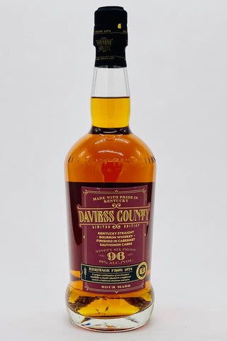 "Daviess County ""Finished in Cabernet Sauvignon Casks"" Bourbon Whiskey"
