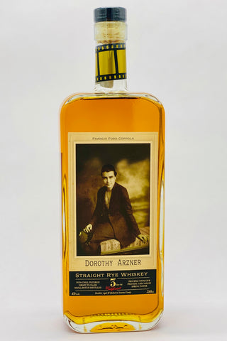 "Dorothy Arzner 3 Years Old Straight Rye Whiskey ""Grain-to-Glass"""