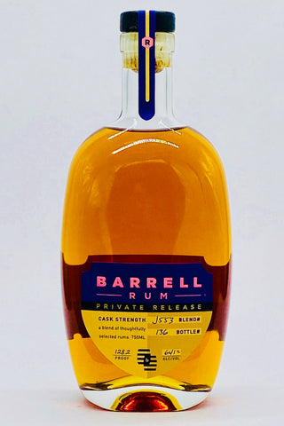Barrell Rum Private Release J553 128.2 Proof