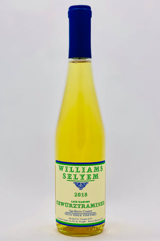 Williams Selyem 2018 Late Harvest Gewurztraminer Vista Verde Vineyard 375 ml