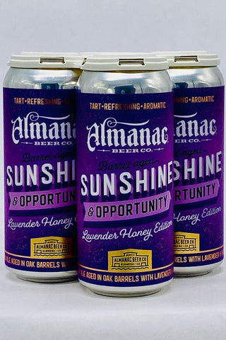 Almanac Sunshine & Opportunity Lavender & Honey Ale Four Pack 12 oz cans