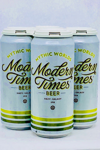 "Modern Times ""Mythic Worlds"" Hazy IPA Four Pack Cans"