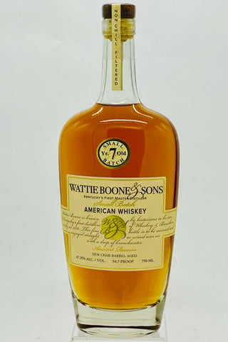 Wattie Boone & Sons 7 Year Old American Whiskey