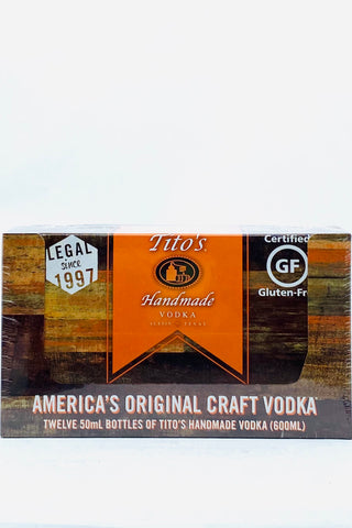 Tito's Handmade Vodka 12 x 50 ml